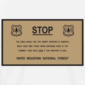 white mountains warning sign - Men's Premium T-Shirt
