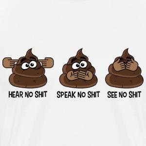 hear speak see - Men's Premium T-Shirt
