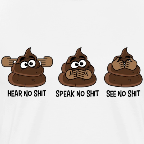 hear speak see - Men's Premium T-Shirt