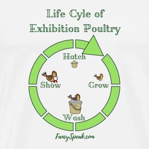 Life Cycle of Exhibition Poultry - Men's Premium T-Shirt