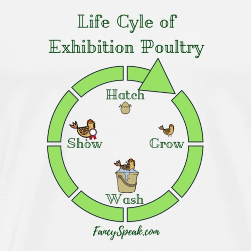 Life Cycle of Exhibition Poultry - Men's Premium T-Shirt