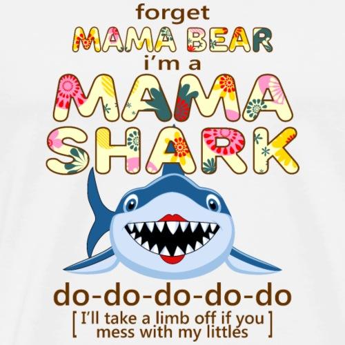 mama shark do do - Men's Premium T-Shirt