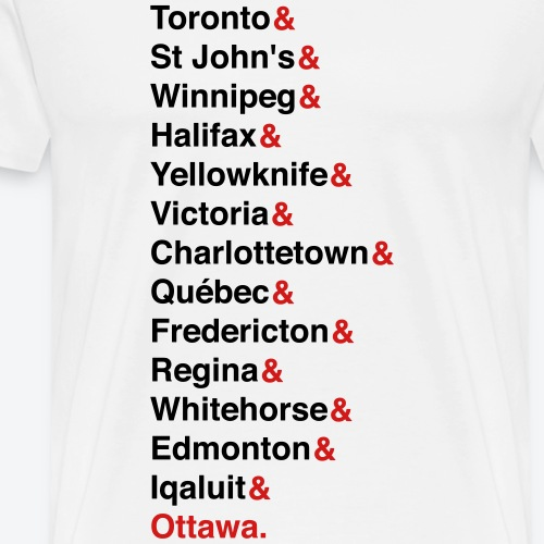 Canada's Capitals - Red & Black - Men's Premium T-Shirt