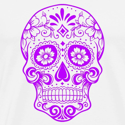 Decorative transparent skull, dark purple - Men's Premium T-Shirt