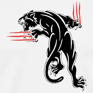 Black Puma scratch - Men's Premium T-Shirt