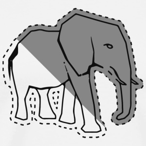 Elephant sticker - Men's Premium T-Shirt