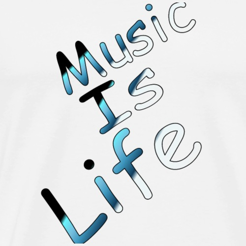 Music is life life is music - Men's Premium T-Shirt