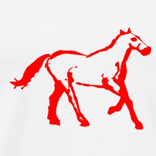 cyber booby horsered - Men's Premium T-Shirt