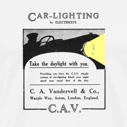 Lights, by electricity - Men's Premium T-Shirt