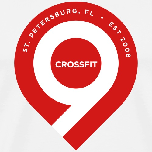 CrossFit9 Classic Drop Pin - Men's Premium T-Shirt