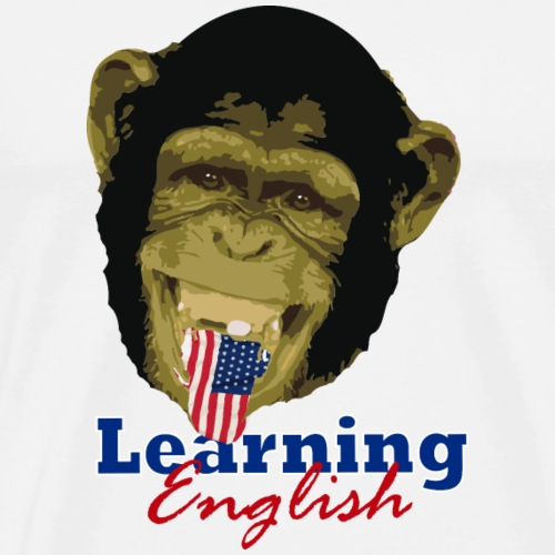 Learning English Chimpa - Men's Premium T-Shirt