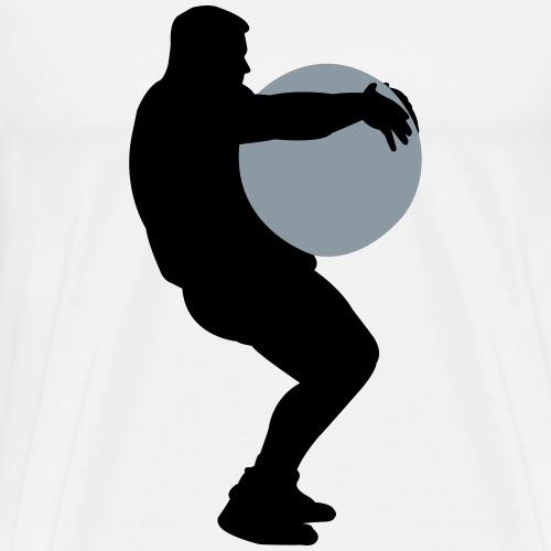 Strongman lifts Stone - Men's Premium T-Shirt