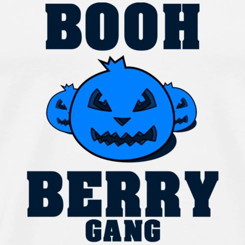 Booh Berry GANG - Blueberry Halloween Theme - Men's Premium T-Shirt
