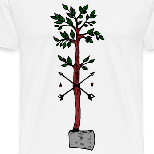 Tree axe and arrows - Men's Premium T-Shirt