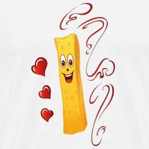French fries with hearts and ketchup. Fun. - Men's Premium T-Shirt
