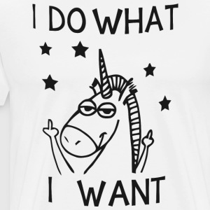 Unicorn I do what I want - Men's Premium T-Shirt
