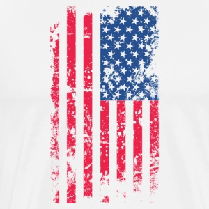 Patriotic USA Flag Distressed American Flag - Men's Premium T-Shirt