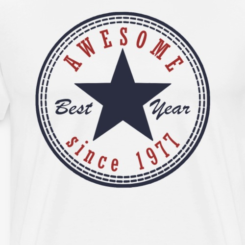 40th Birthday Awesome since T Shirt Made in 1977 - Men's Premium T-Shirt
