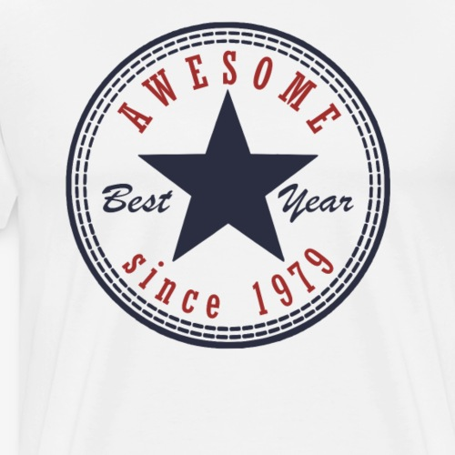 38th Birthday Awesome since T Shirt Made in 1979 - Men's Premium T-Shirt