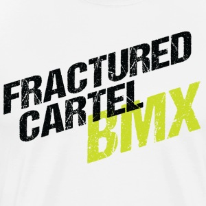Fractured Cartel BMX Black & HiVis - Men's Premium T-Shirt
