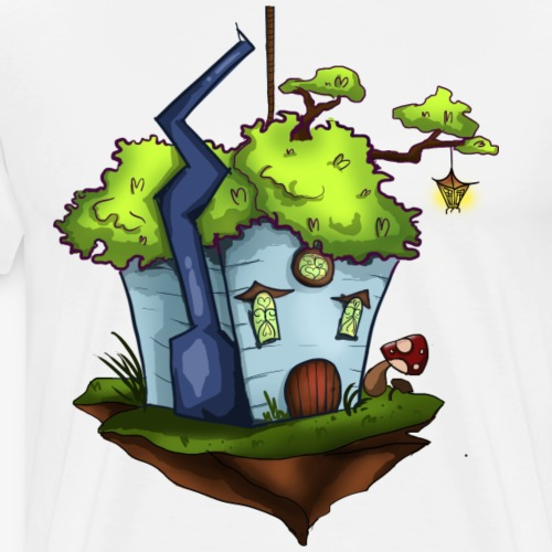 Floating Island Fantasy House - Men's Premium T-Shirt