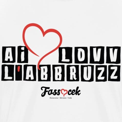 Ai Lovv L'Abbruzz - Black - Men's Premium T-Shirt