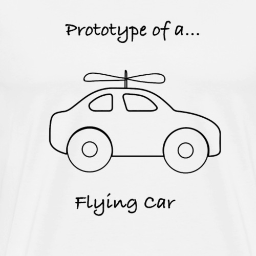 Flying Car - Men's Premium T-Shirt