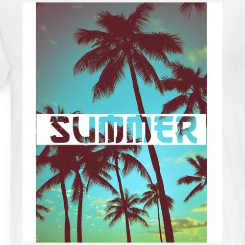 Palm Trees Cool Sunset T-Shirt - Men's Premium T-Shirt
