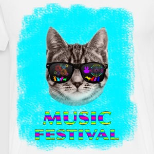 Music Festival Cat Face - Men's Premium T-Shirt