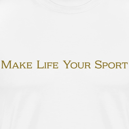 Athletic Identity Motto - Men's Premium T-Shirt