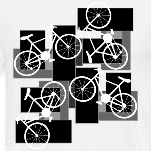 Bicycle Rectangles - Men's Premium T-Shirt