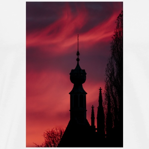 Point purple and pink sky silhoutte - Men's Premium T-Shirt