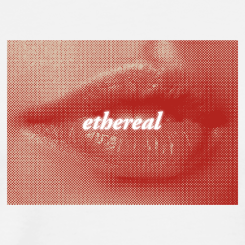 Ethereal (Peach/Red/White) - Men's Premium T-Shirt