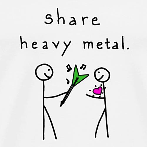 Share Heavy Metal - Men's Premium T-Shirt