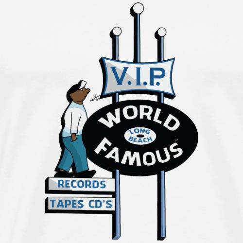 World Famous VIP Records Sign - Men's Premium T-Shirt