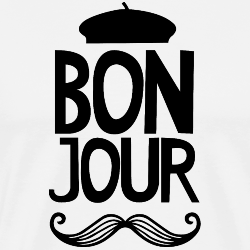 Bonjour French Mustache - Men's Premium T-Shirt
