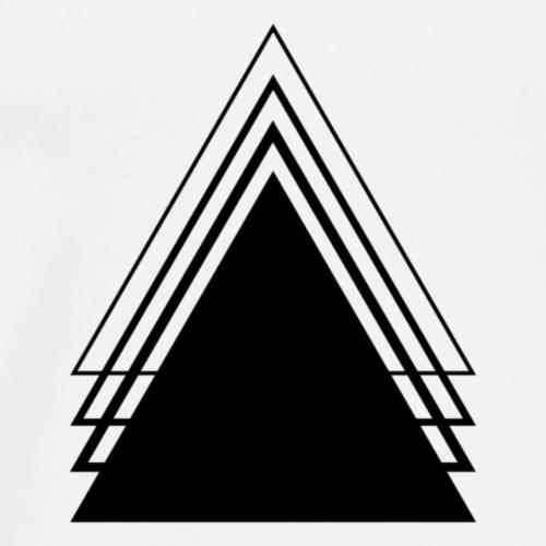Triangle Geometry Design Minimalist - Men's Premium T-Shirt