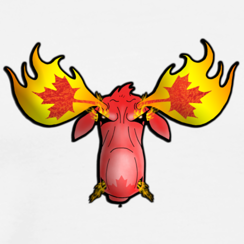 Raging Moose Logo - Men's Premium T-Shirt
