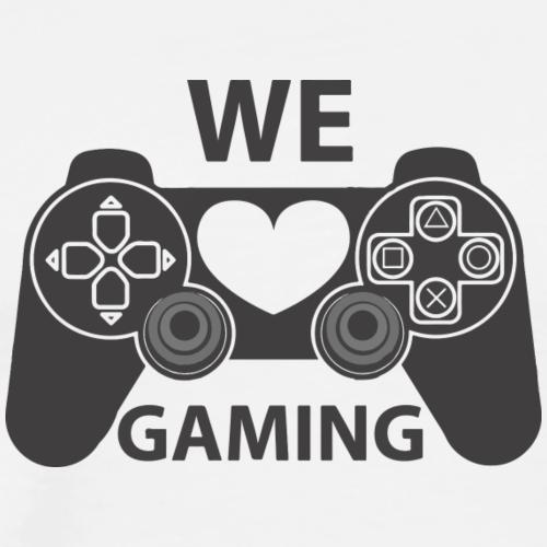 we love gaming - Men's Premium T-Shirt