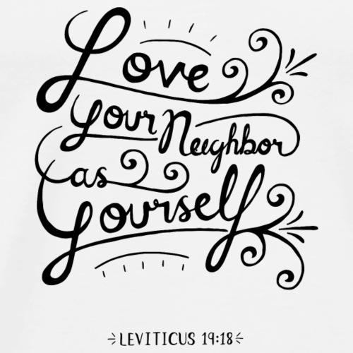 Leviticus 19:18 - Men's Premium T-Shirt
