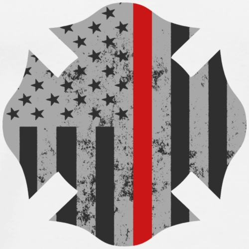Firefighter Red-Line Maltese Cross - Men's Premium T-Shirt