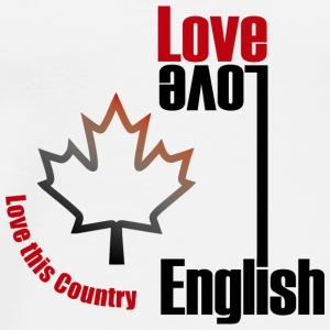 Love English, love Canada - Men's Premium T-Shirt
