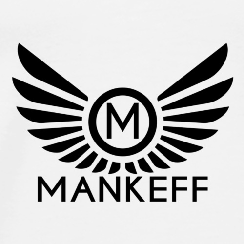 Mankeff Black Logo With Name - Men's Premium T-Shirt