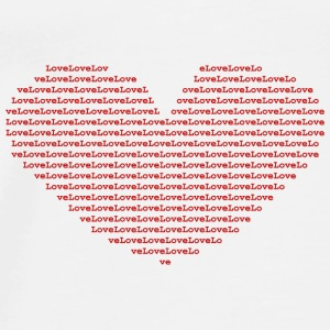 Isle of red Ascii Heart red - Men's Premium T-Shirt