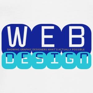 Web Design vs Graphic Design (Royal + Aqua) - Men's Premium T-Shirt