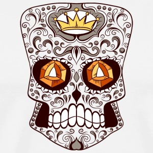 skull_with_diamond_eyes_2 - Men's Premium T-Shirt