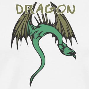 snake_dragon_colored - Men's Premium T-Shirt