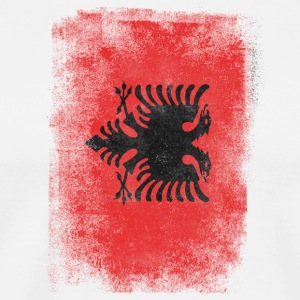 Albania Flag Proud Albanian Vintage Distressed - Men's Premium T-Shirt