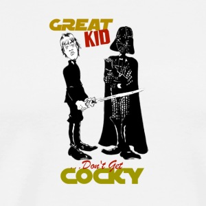 Gwiz Art Luke & Vader 'Don't Get Cocky' - Men's Premium T-Shirt