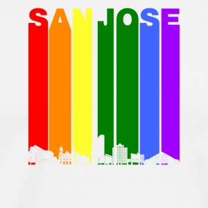 San Jose Skyline Rainbow LGBT Gay Pride - Men's Premium T-Shirt
